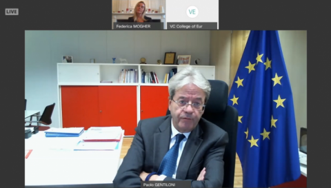 Mr Paolo GENTILONI, Commissioner for Economy and former Prime Minister of Italy
