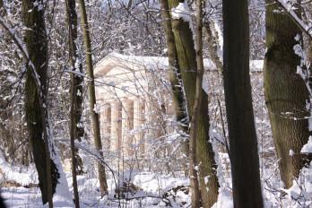 pałac natoliński zimą