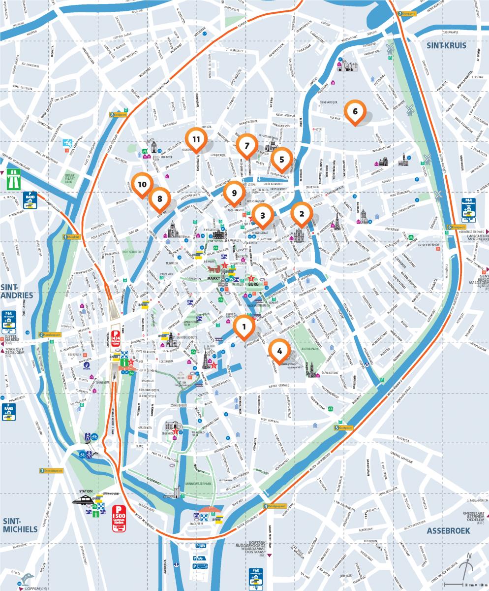 Plan De Ville A Imprimer Bruges