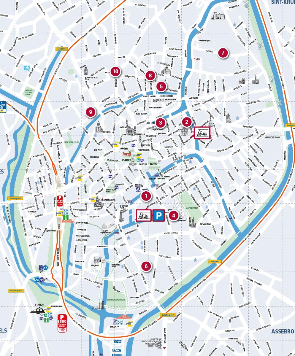 Map Of Bruges Bruges campus map | College of Europe